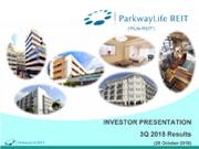 PLife REIT Investor Presentation Slides Q3 2018 Results