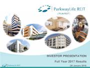 PLife REIT Investor Presentation Full Year 2017 Results
