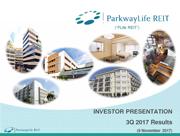 PLife REIT Investor Presentation Slides Q3 2017 Results